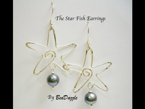 The Star Fish Earrings By BeaDazzle Hawaii