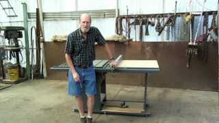 1 Of 5: How To Make Your Own Table Saw Fence Guide Rails & The Verysupercool T-square Fence