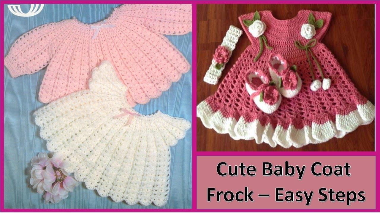 बनाओ प्यारा कोट स्वेटर फ्रॉक आसान चरणों में Make Cute Baby Coat Sweater Frock