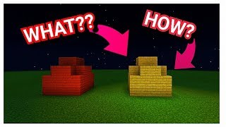 SIMPLE TRICK BUT VERY HELPFUL TRICK. AND WEIRD BUT FUNNY TRICK IN MINECRAFT 😍