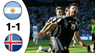 Аржентина 1:1 Исландия / Голове 16.06.2018 HD