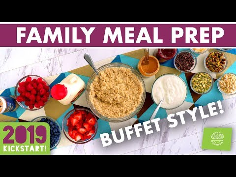 Family Meal Prep Buffet Breakfast & Dinner Ideas #kickstart2019
