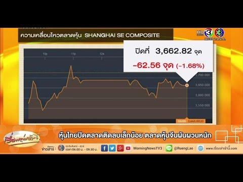 เรื่องเล่าเช้านี้ หุ้นไทยปิดตลาดติดลบเล็กน้อย ตลาดหุ้นจีนผันผวนหนัก (29 ก.ค.58)