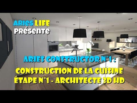 Aries|Constructor N°1 : Étape 1 - Faire une cuisine sur Architecte 3D HD Pro