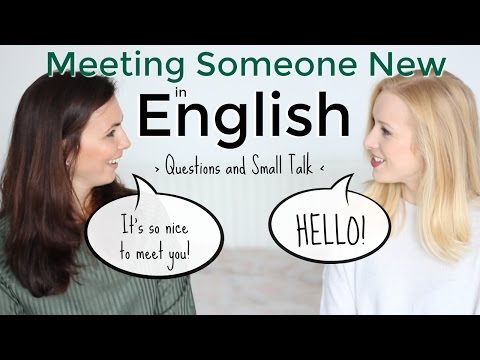 To meet someone for the first time in spanish