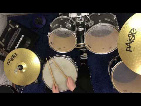 Learn how to play the Pornhub intro on drums part 2. (better version)