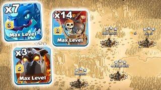 7 Max Electro Dragon 3 Max Lava 14 Max Balloon New Strategy 3 Star War Attack TH12