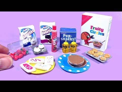 DIY Miniature Breakfast Junk Food - Pop-tarts, Donuts, Pancakes, Etc