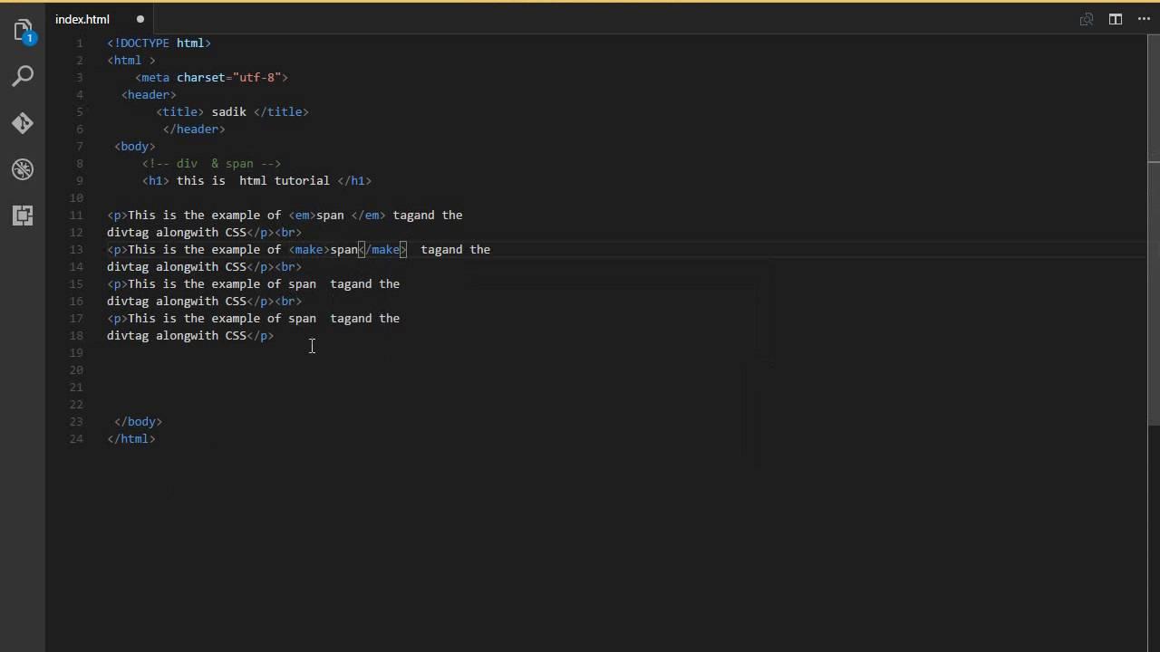 الدرس الثالث إحتواء النصوص (html)