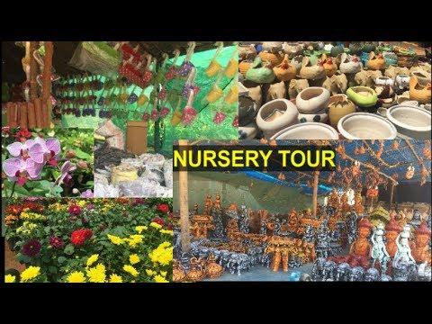 BANGALORE NURSERY TOUR:-PLANTS/TERRACOTTA DECORS/HANGING PLANTERS/CERAMIC POTS