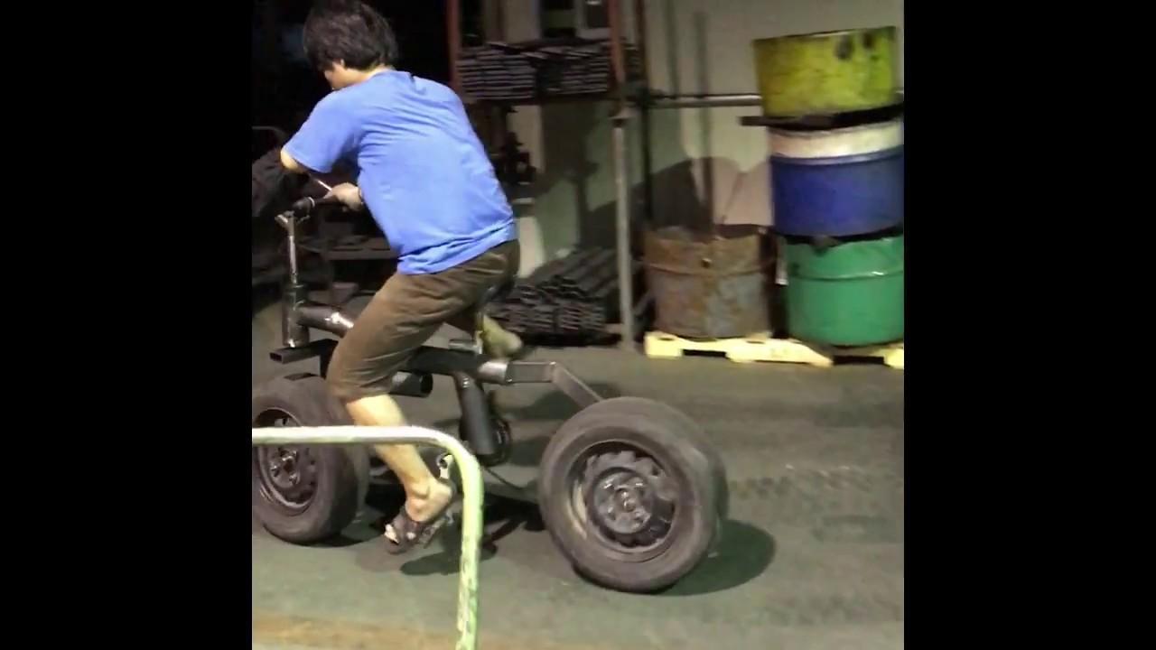 Membuat Sepeda Dari Ban Bekas Mobil Part 1 Youtube