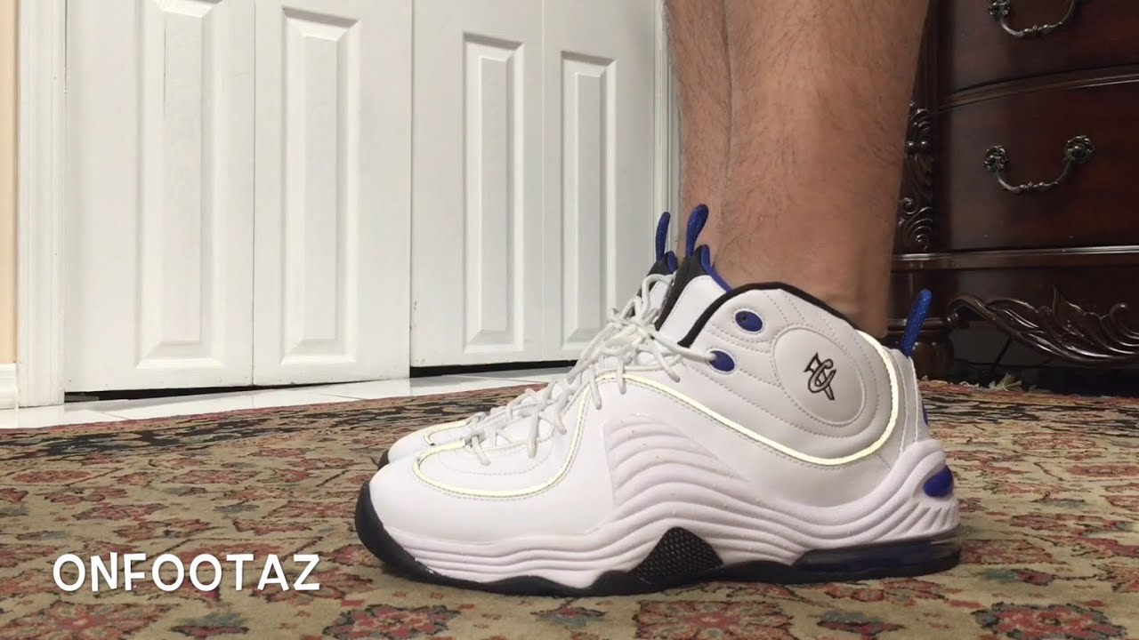 72f3f4cf7fe Nike Air Penny 2 II White Varsity Blue All Star 2016 On Foot - YouTube