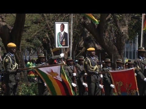 Zimbabwean President Mugabe attends parliament opening
