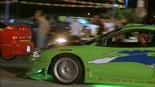 【追悼】ワイルドスピード 三菱・エクリプス ドラッグレースシーン 【ゼロヨン】