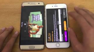 Samsung Galaxy S7 Edge vs iPhone 6S   Speed Test 4K
