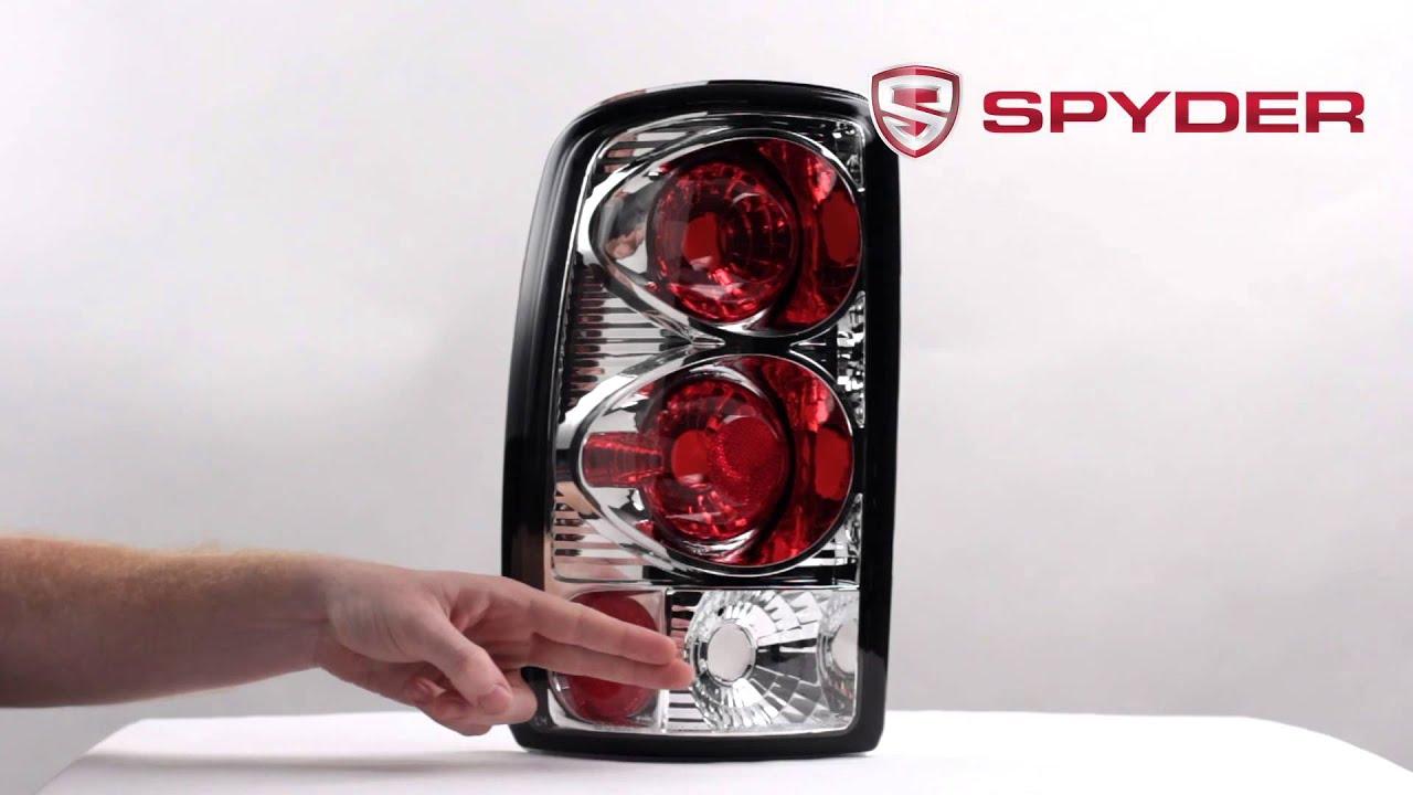 Spyder auto product showcase 2000 06 chevy suburban tahoe gmc yukon euro style tail light youtube