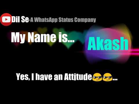 Akash Raj name song whatsapp status