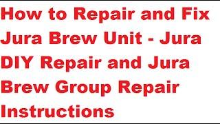 Re-assemble Jura Brew Group to Fix ERROR 8   Repair Jura Brew Unit