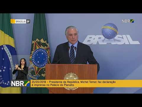 Presidente Michel Temer faz pronunciamento sobre a greve dos caminhoneiros