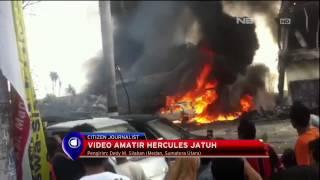 Detik - Detik Insiden Jatuhnya Pesawat Hercules di Medan - NET16