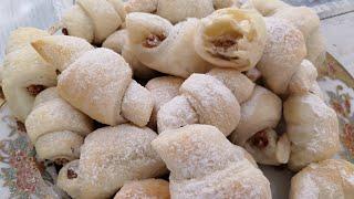 Рогалики с арахисовой пастой / Моментальный рецепт Вкусной Выпечки /Irinochka HandMade