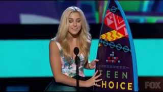 Chloe Lukasiak's Acceptance Speech for Choice Dancer - Teen Choice Awards 2015