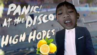 High hopes for a lemon but every word is a google image! (Kid sings high hopes)