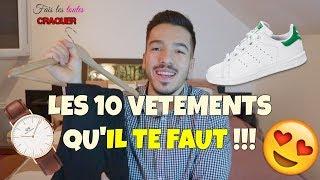 TOP 10 VÊTEMENTS basiques INDISPENSABLES ! Tuto style/mode HOMME