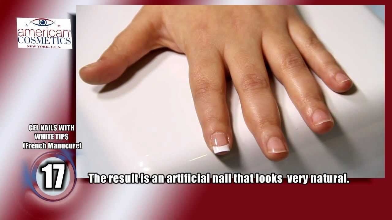 Gel nails with plastic tips