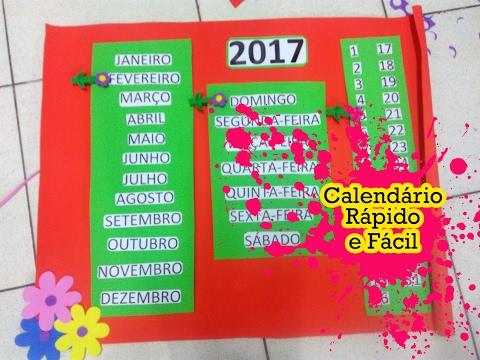 Calendário para sala de aula: RÁPIDO E FÁCIL