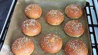 Американский рецепт быстрого приготовления булочек для гамбургеров и хот догов ./Булочки рецепт .