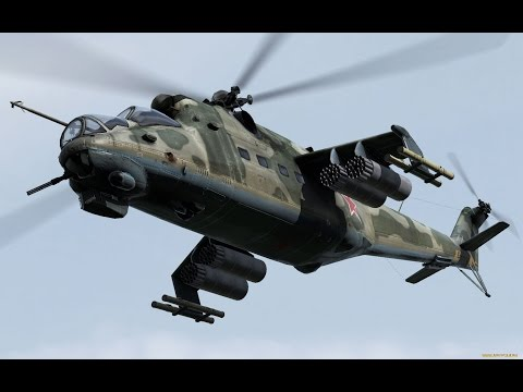 Полёт на МИ-24. FSX.