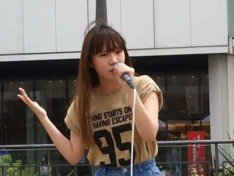 U.for(ユウホ)「Baby Don't Cry」(安室奈美恵)、姫路駅前、18.05.26