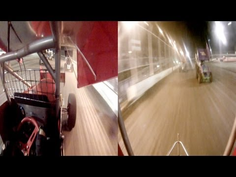 2 GOPRO CAMERAS ON DEREK SLIVERS CAR KENNEDALE SPEEDWAY PARK 4-6-13