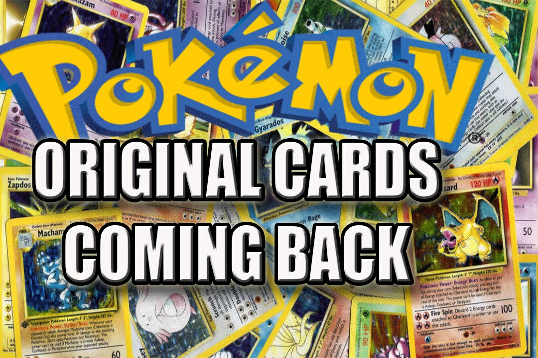 Anniversary cards walmart ~ Original pokemon cards from s coming back th anniversary