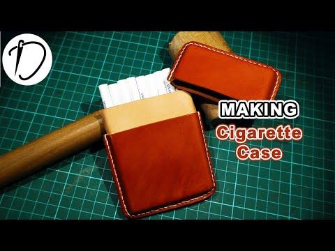 Leather Craft DIY - Making a Leathr Cigarette Case DIY