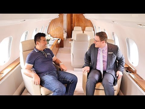 Inside a $60 million Bombardier Private Jet (Farnborough Airshow)