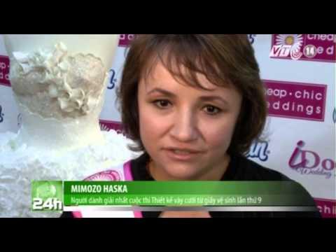 VTC14_Cuộc thi làm váy cưới từ giấy vệ sinh