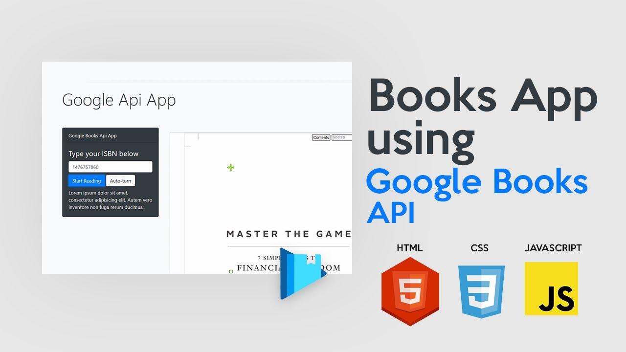 Google Books API Tutorial - Build a Books app using Google Books API