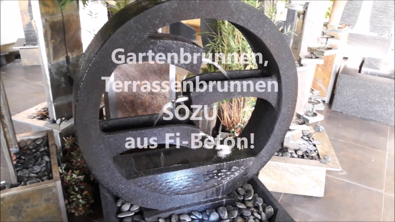 gartenbrunnen terrassenbrunnen sozu aus fi beton youtube. Black Bedroom Furniture Sets. Home Design Ideas