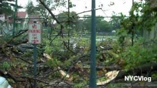 Tornado Hits New York City - Aftermath Footage HD -  Queens NYC - Sep 16 2010