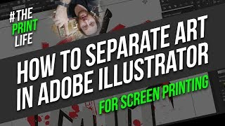 How to create Spot Solor Separations in Adobe illustrator for Silk Screen Printing vlog