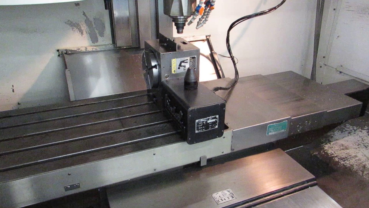 Fadal VMC4020 4-Axis CNC Vertical Machining Center with VH65 Rotary Table