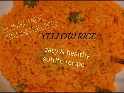 HOMEMADE SOFRITO AND SPANISH STYLE YELLOW RICE