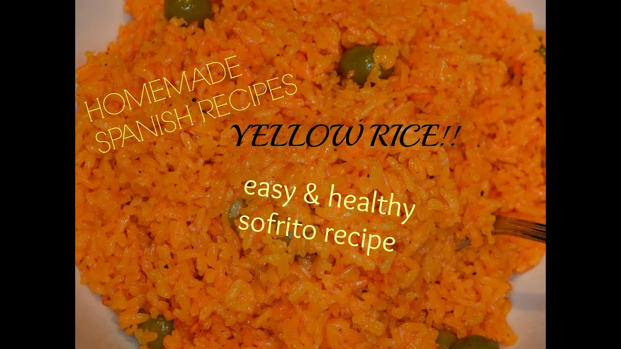 How to HOMEMADE SOFRITO AND SPANISH STYLE YELLOW RICE