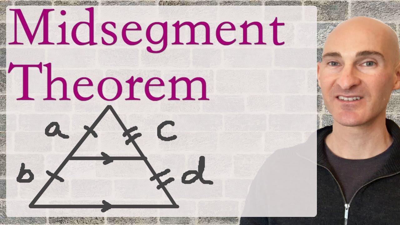 Midsegment Theorem Triangles Geometry Youtube
