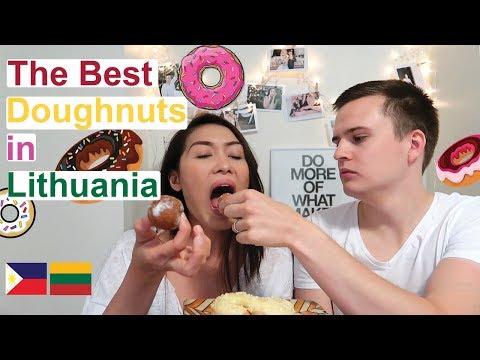 Filipina Tries Lithuanian Doughnuts!   (PinayVlog)   it'srofa