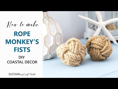 How to make a Monkey Fist | DIY Sailor Knot Rope Ball Tutorial