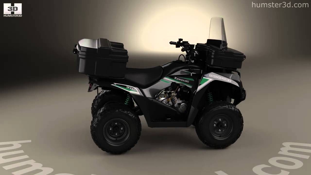 kawasaki brute force 300 2016 3d modelhumster3d - youtube