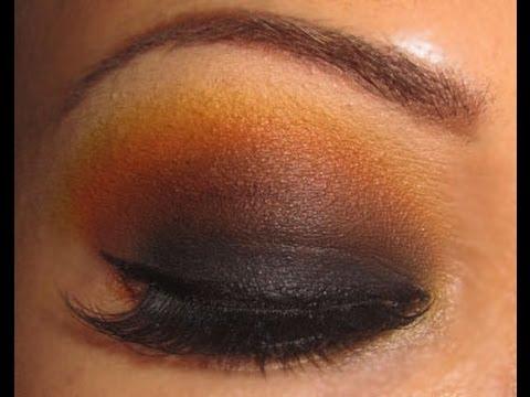 Look negro, café, naraja, amarillo y beige, 9º Reto de Radio Make Up